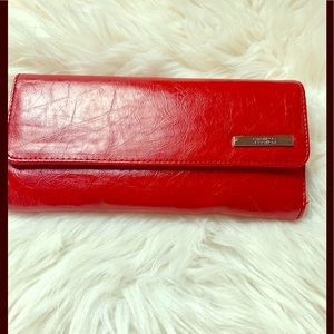 Kenneth Cole PVC elongated wallet